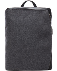 Maison Martin Margiela Felt And Leather Backpack In Grey