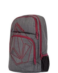 Volcom deluxe backpack charcoal heather one size for 195601110 medium 114436
