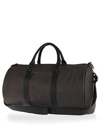 River Island Grey Rubberised Holdall