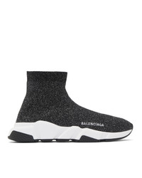 Balenciaga Black Lurex Speed Sneakers