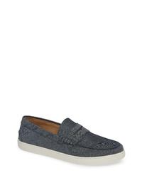 Charcoal Canvas Loafers