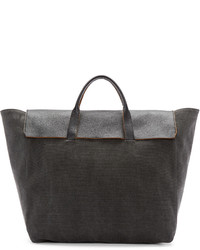 Grey canvas honor tote medium 603871