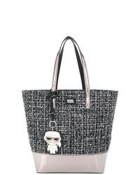 Karl Lagerfeld Kspace Tweed Shopper Bag