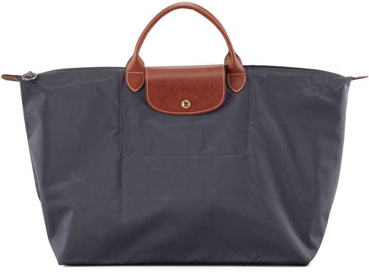 44ebe65d1a36 ... Longchamp Le Pliage Large Travel Tote Bag Gray ...