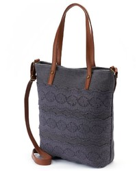 Sonoma Life Style Eyelet Lace Convertible Tote