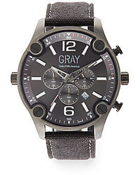 Saks Fifth Avenue Stainless Steel Canvas Strap Watch