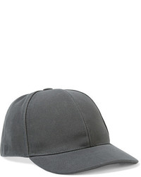 Acne Studios Camp Cotton Twill Baseball Cap Gray