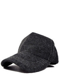 ChicNova Grey Wool Blended Baseball Cap With Wide Arched Brim