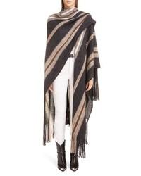 Isabel Marant Kalibo Mohair Wool Blend Poncho Coat