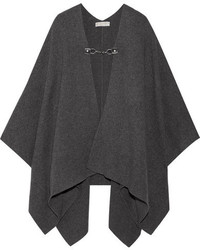 MICHAEL Michael Kors Michl Michl Kors Wool And Cashmere Blend Cape Dark Gray