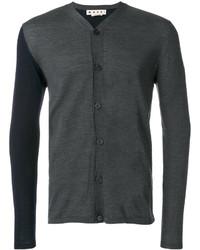 Marni Asymmetric Colour Block Cardigan