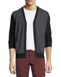Cashmere colorblock v neck cardigan medium 5276589