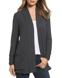 Ruched sleeve cardigan medium 5169697