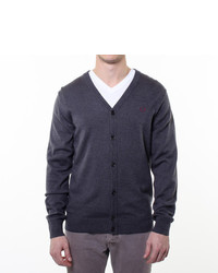 Fred Perry Standard Cardigan Charcoal
