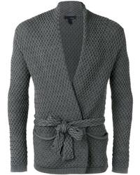 Lardini Textured Tie Cardigan