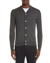 Trim fit merino wool silk cardigan medium 8646935