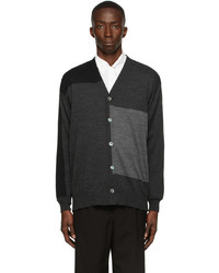 Comme des Garcons Homme Worsted Wool Paneled Cardigan