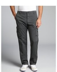 Armani Charcoal Cotton Blend Cargo Pants