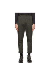 Z Zegna Grey Canvas Cargo Pants