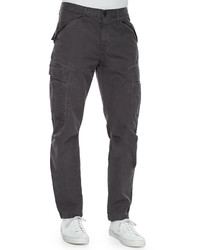J Brand Jeans Collins Cargo Pocket Utility Jogger Pants Dark Gray
