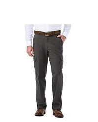 Haggar Stretch Comfort Cargo Expandable Waist Classic Fit Pant