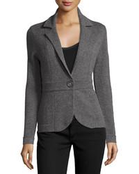 Neiman Marcus Cashmere Blazer Jacket Gray