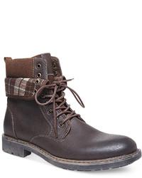 Steve Madden Madden Neptun Plaid Collar Boots