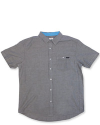 Charcoal Chambray Short Sleeve Shirt
