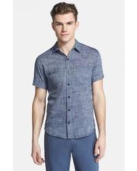 Billy Reid Donelson Short Sleeve Chambray Shirt