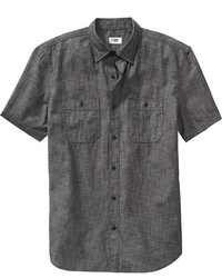 Old Navy Slim Fit Short Sleeved Chambray Shirts