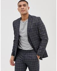 Jack & Jones Premium Suit Jacket In Slim Fit Check