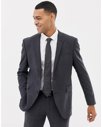 Esprit Slim Fit Commuter Suit Jacket In Grey Check
