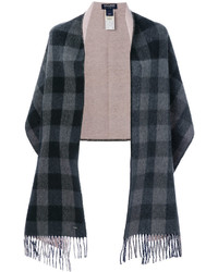 Woolrich Checked Cape Scarf