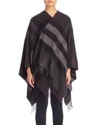 Burberry Collette Merino Wool Cashmere Check Cape