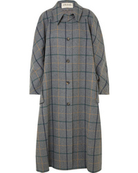 A.W.A.K.E. Oversized Checked Wool Blend Coat