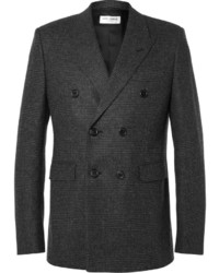 Charcoal Check Double Breasted Blazer