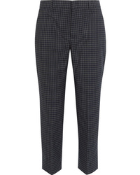Prada Cropped Checked Flannel Straight Leg Pants
