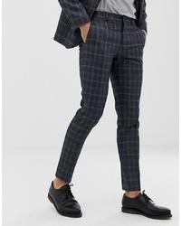 Jack & Jones Premium Suit Trousers In Slim Fit Check