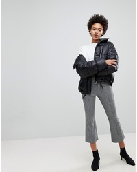 Stradivarius Check Crop Kick Flare