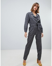 Mango Check Jumpsuit