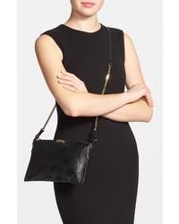 Burberry Peyton Grain Check Embossed Leather Crossbody Bag