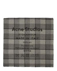 Acne Studios Grey Check Cassiar Scarf