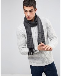 Asos Scarf In Charcoal Patchwork Check