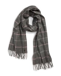 Ted Baker London Window Check Fringed Scarf