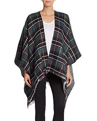 Saks Fifth Avenue Reversible Herringbone Plaid Wrap