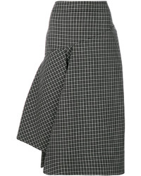 Marni Asymmetric Checked Skirt