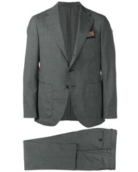 Caruso Checked Formal Suit