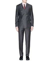 Isaia Gregory Check Wool Suit