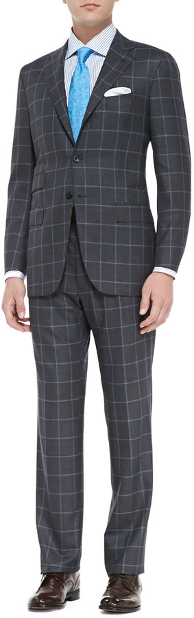 how to wear windowpane suit