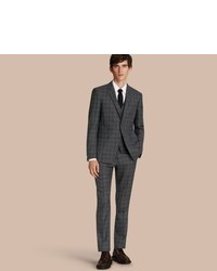 Burberry Slim Fit Wool Silk Linen Three Piece Part Canvas Suit